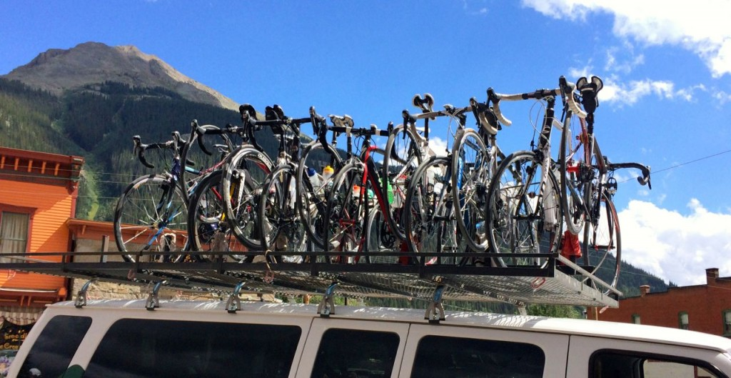 bikes on HT roof rack